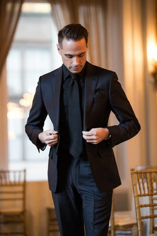 Best Shirt To Wear With A Black Suit