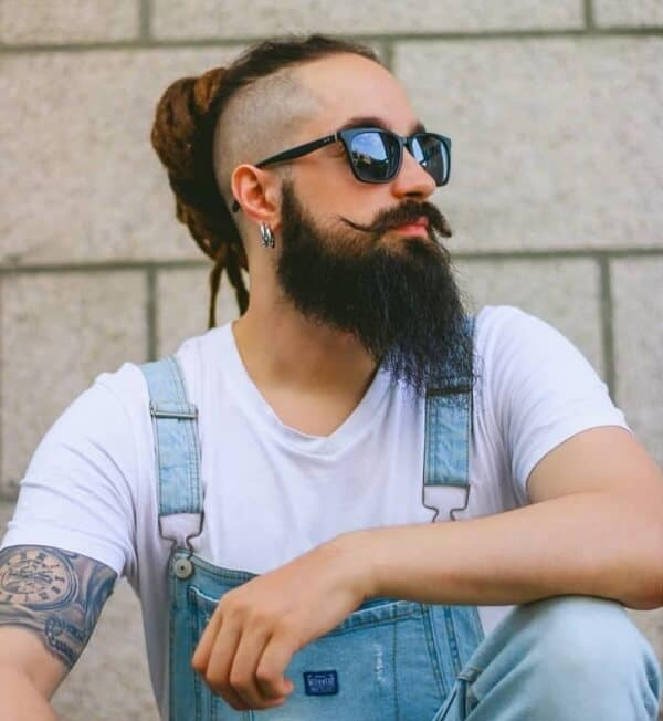 Masculine Long Hair And Beard Styles For Men