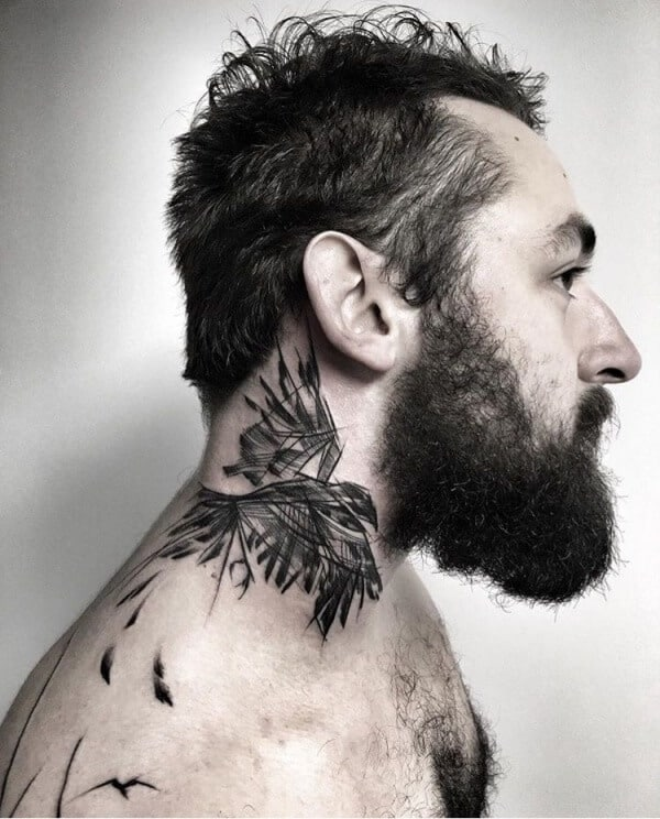 Attractive Neck Tattoos For Men