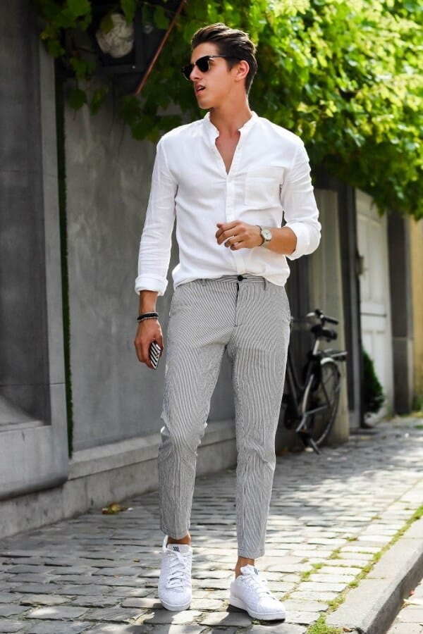 Grey Pants Outfit Ideas For Men