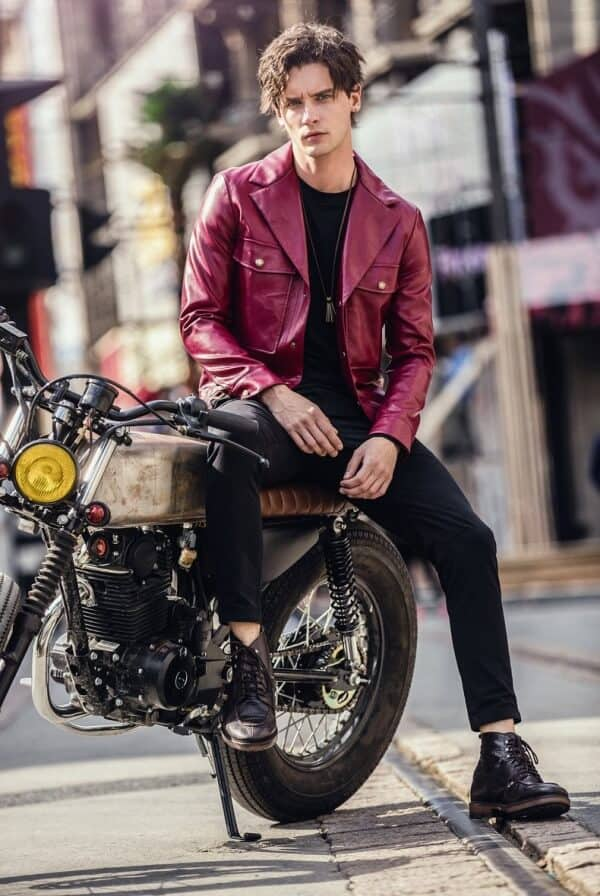Men's Leather Jacket Outfits