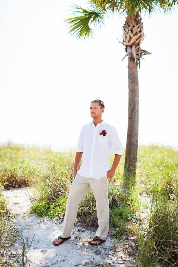 Casual Beach Wedding Attire For Men Guests