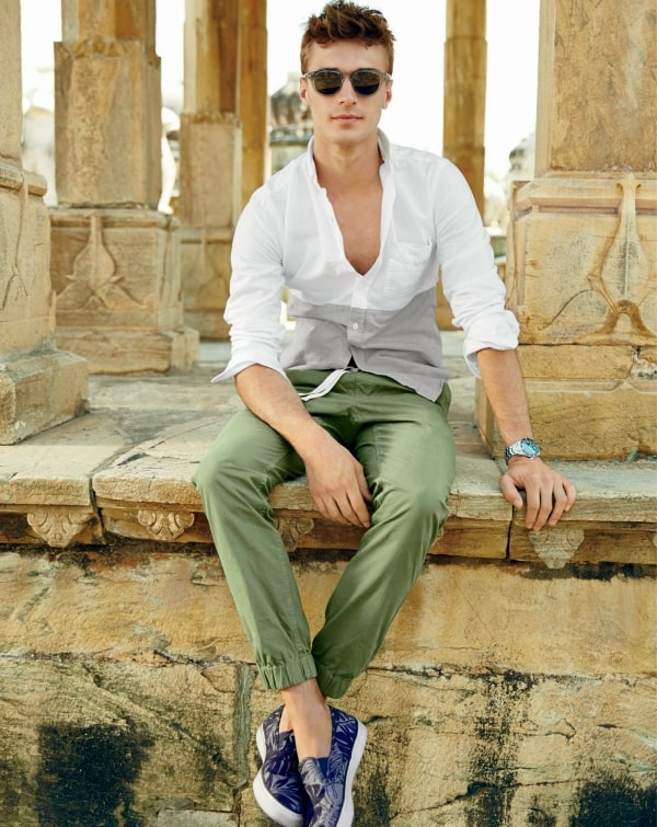 white shirt outfits for men