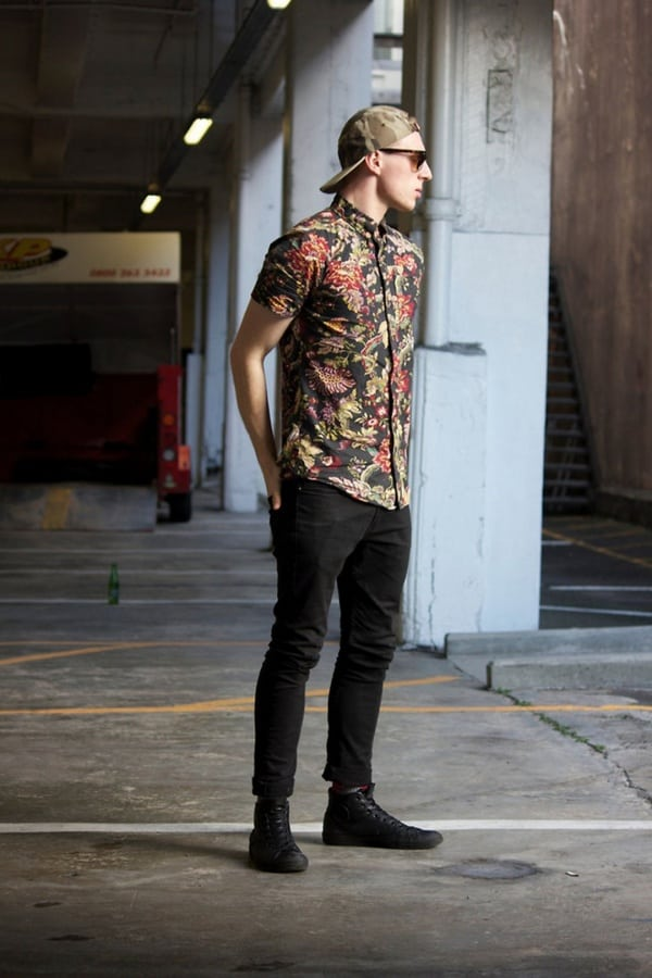 black jeans outfits for men