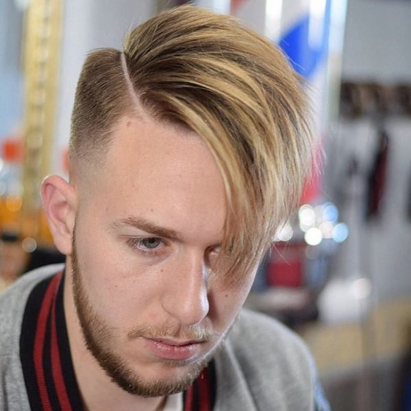 side swept hairstyles for men